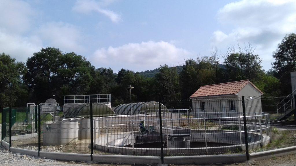 Photo de la station d'épuration