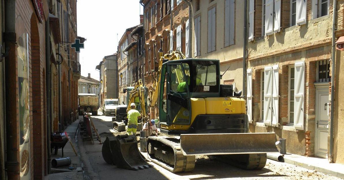 Extension du réseau d'assainissement à Rieux Volvestre : le suivi archéologique du chantier primé